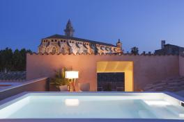 Mallorca-Hotels-Palma-Posada-Terra-Santa-Dach-bei-Nacht