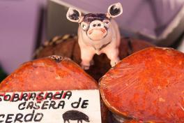 Mallorca-Wochenmarkt-Wurststand