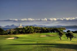 Mallorca Golfplätze Golf de Alcanada Aussicht Loch 16