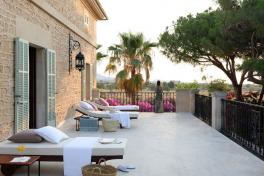 Mallorca Hotels Santanyi Cal Reiet Terrasse