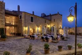 Mallorca Manacor Hotel Son Amoixa Vell Restaurantterrasse