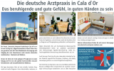 Mallorca Ärzte Cala d'Or Dusche Arztpraxis Ambulanta Anzeige